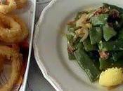 Menú rápido: Judías verdes salteadas jamón calamares fritos