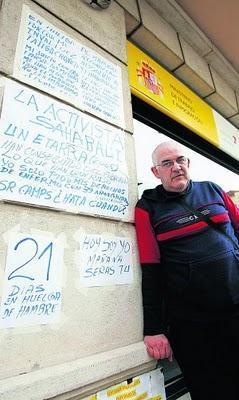 FIBROMIALGIA y FATIGA CRÓNICA: Juan Vilas lleva 21 días en huelga de hambre para conseguir la invalidez laboral