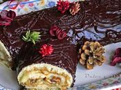 Tronco navidad relleno crema pastelera castañas almibar
