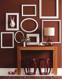 ideas para decorar paredes con molduras y listones