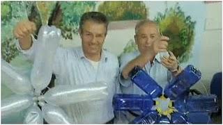 Reciclaje y decoracion de Navidad 2009.