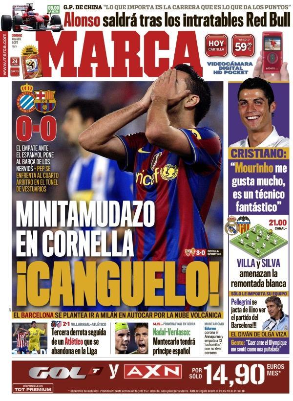 El Marca es el cazador y el Barça el oso
