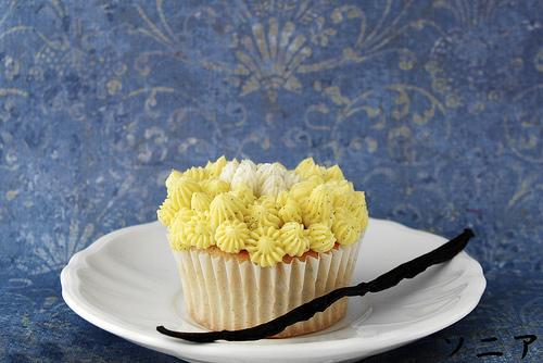 Cupcake con crema de vainilla