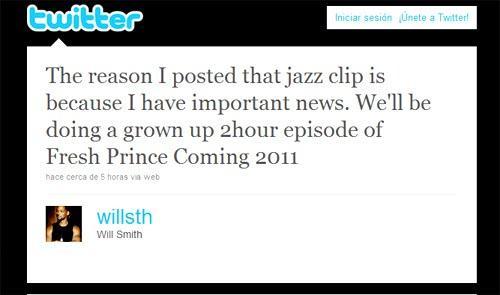 Will Smith volverá a El Príncipe de Bel-Air en un episodio especial