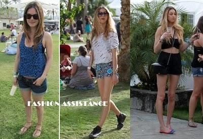 Celebrities en el Festival de Coachella: no sin mis shorts