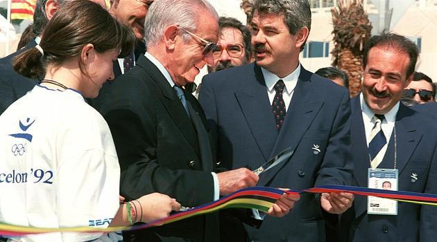 Samaranch, en la ceremonia de apertura de los Juegos Olímpicos de Barcelona'92 Foto: MARCA