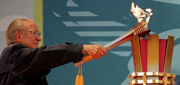 Samaranch enciende la llama olímpica de los Juegos Olímpicos de Nagano'98. Foto: MARCA
