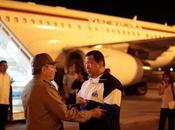 Hugo Chávez llegó Venezuela tras segunda sesión radioterapia