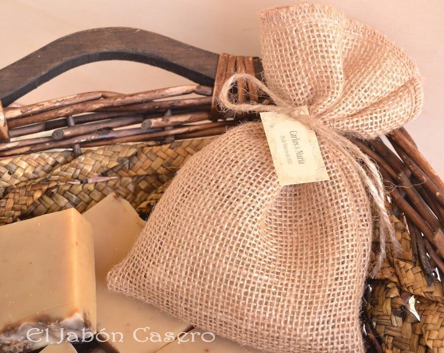 Saquitos de tela con jabones detalles artesanales de boda - Saquitos de tela ...