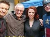 Stan posa tres Vengadores rodaje película