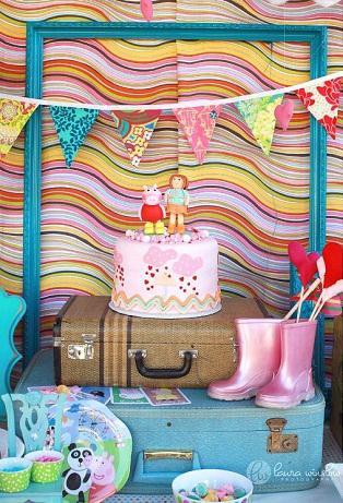 {Lunes} Mesas de dulces: Una fiesta Peppa Pig