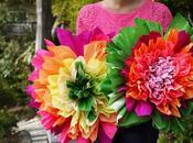 Flores grandes papel crepe. Hermosas!!!