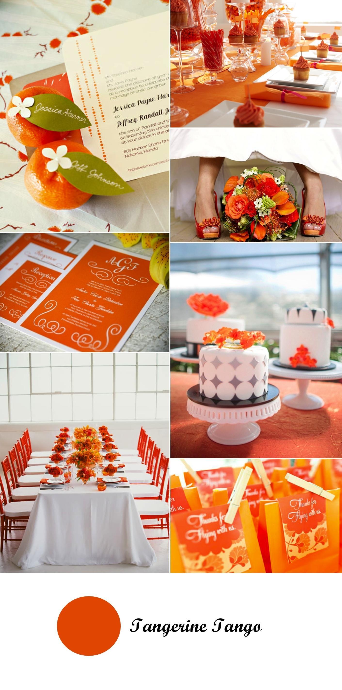 Colour Monday #5. Boda con toques tangerine tango ... Tangerine Tango Wedding