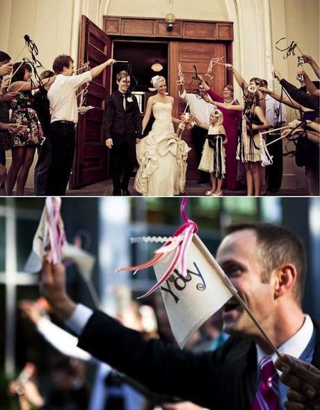 Alternativas al arroz en la ceremonia-banderines-cintas/Rice alternatives at the ceremony-flags-ribbon-wangs