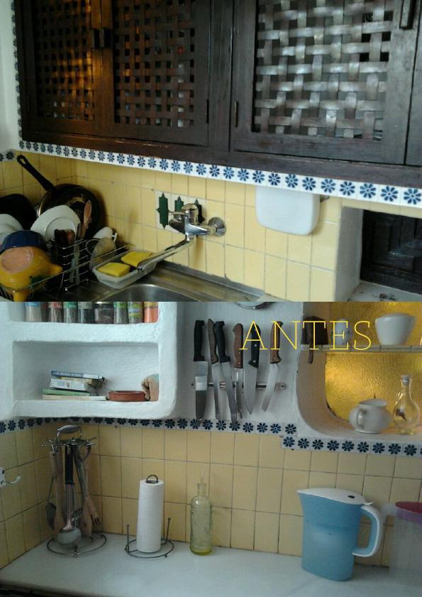 Antes y despu s la cocina que conquist la luz paperblog for M s mobiliario auxiliar para tu cocina s l