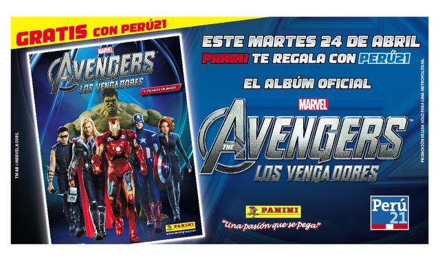 Gratis el álbum de The Avengers con Perú 21