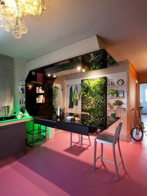jard n vertical de interior en la reforma de una cocina