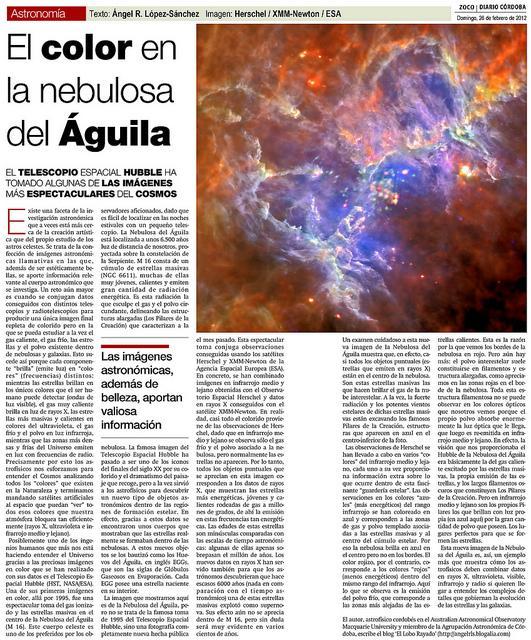 El color en la Nebulosa del Águila