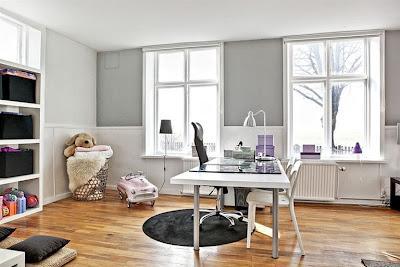 Negro y Blanco en Interiores Escandinavos