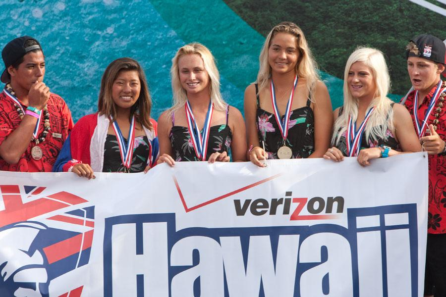 El Team Hawaii campeón del DAKINE ISA World Junior Surfing Championship 2012