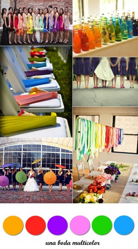 Colour Monday 6. Boda multicolor/Multi coloured wedding