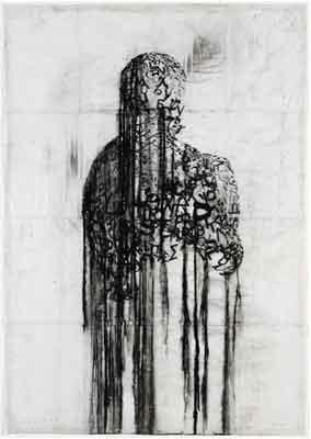 Jaume Plensa 'Shadow XLVII, obra de 'Colectiva de obra sobre papel'.