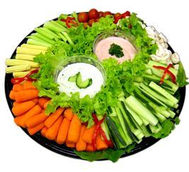 Crudité de verduras - Receta ligera light - Receta de dieta con pocas calorías