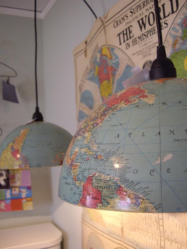ee914d6ac7a8 Frío o Caliente? Globos terraqueos como lámparas colgantes - Paperblog