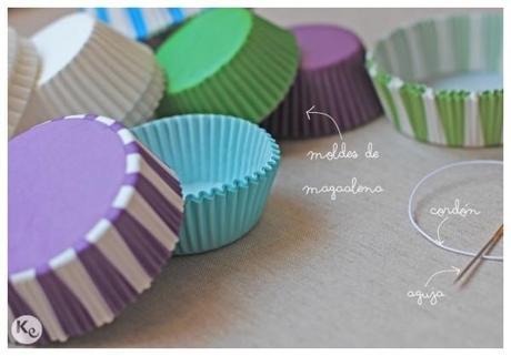DIY-Guirnalda con moldes de magdalena/cupcake liners garland