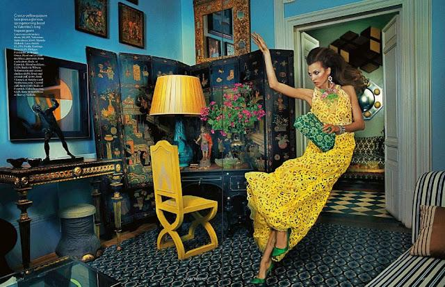 Vintage Room: Lady Luxe - Vogue Uk, march 2012