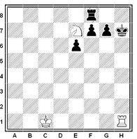 Posición típica del mate de anastasia en ajedrez