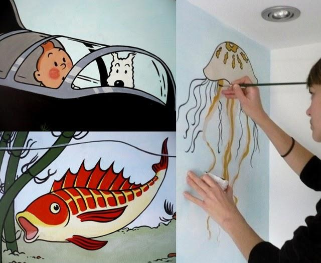 Pintar un mural en el ba o paperblog - Pintar el bano ...