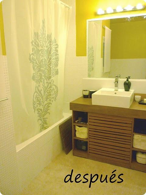 Antes y despues del ba o de galianastreet paperblog - Pintar azulejos bano antes y despues ...