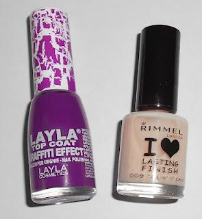 Layla Top Coat Graffiti Effect morado