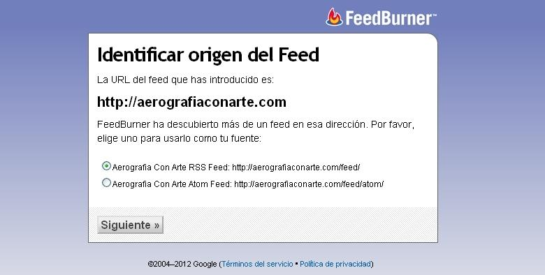 Redirigir feed rss Feedburner
