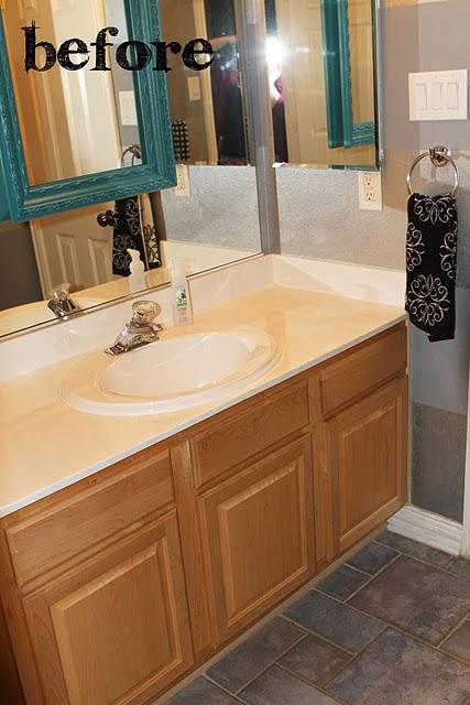 Mueble Baño Turquesa:Antes y después de pintar el mueble de turquesa – Paperblog