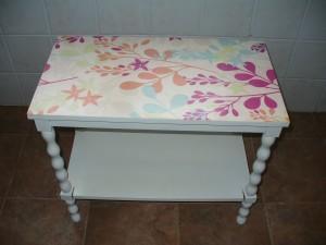 La mesa restaurada de Eva