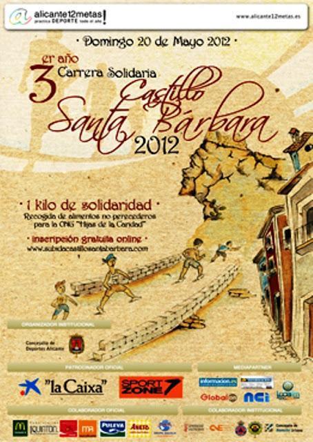 Alicante. III Carrera Solidaria al Castillo de Santa Bárbara 2012