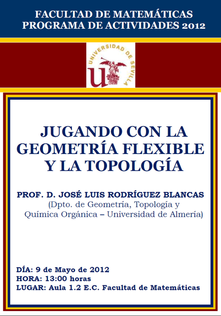 Conferencia: Jugando con la geometría flexible y la topología
