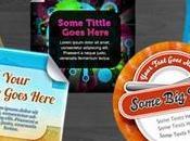 Platillas gratuitos pegatinas para promover servicio negocio