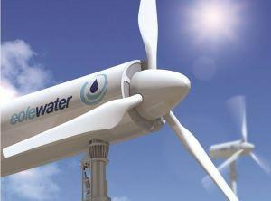 Un prototipo de turbina eólica