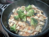 Risotto de champiñones con brócoli