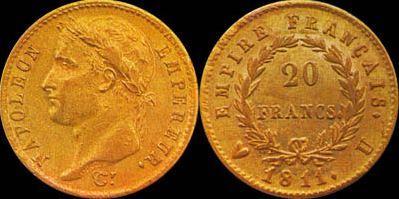 Las monedas de oro de Bonaparte y Napoleón 1ro