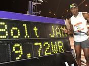 Primer récord mundo Usain Bolt 9,72