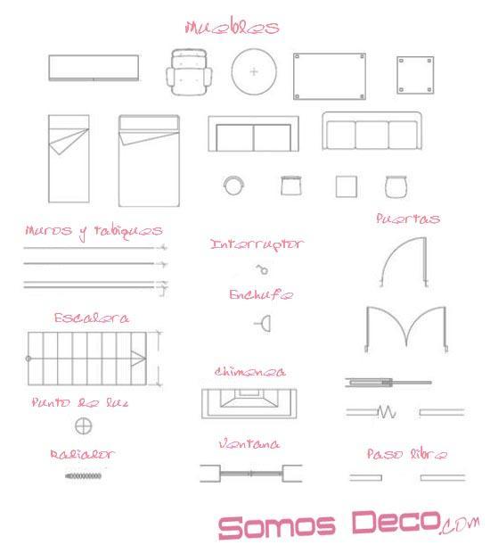 Muebles De Baño En Planta Arquitectonica:La práctica, ¿cómo decorar con planos?
