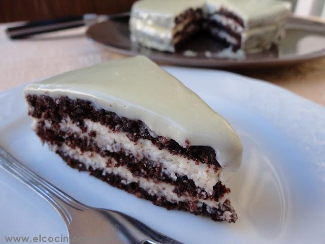 Baño Chocolate Blanco Para Tartas:Tarta de chocolate blanco, nata y mascarpone – Paperblog