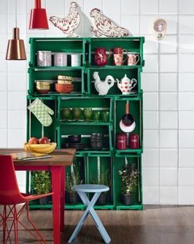 Decoraci n con cajas de madera paperblog - Decoracion con cajas de madera de frutas ...