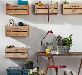 Decoraci n con cajas de madera paperblog - Decoracion con cajas ...