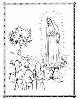 Virgen De Fátima Historia En Imágenes Para Colorear Paperblog