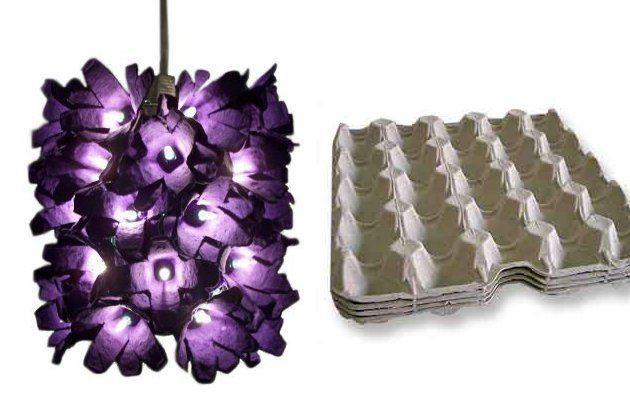 donde vienen los huevos al ver la hermosa lampara que puede hacer